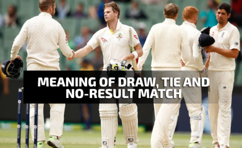 The Difference between a Tie, Draw and No Result Matches in Cricket