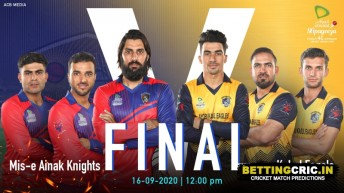 SCL 2020 Final: Kabul Eagles vs Mis Ainak Knights Match Prediction and Preview