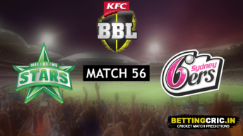 Melbourne Stars vs Sydney Sixers Predictions: BBL 56th Match Preview