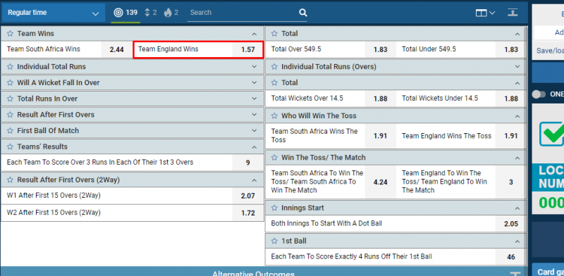 How to place bets on 1xBet Cricket in India
