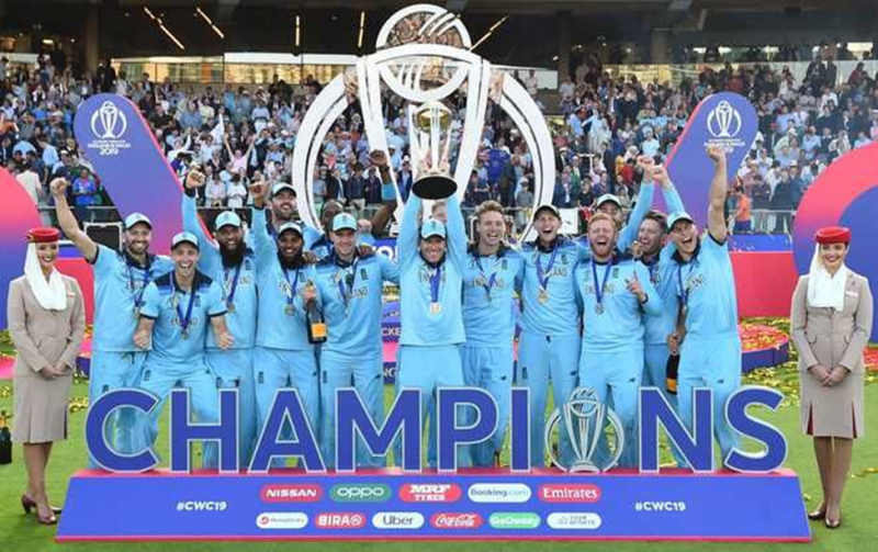 English Team after winning the Worldcup 2019. Cricket is currently the 2nd most popular sport in the world