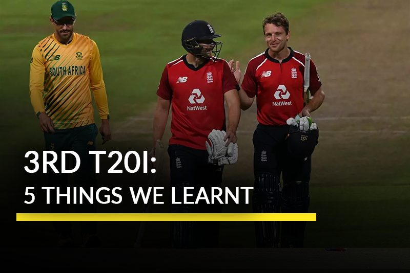 5 Talking Points From South Africa vs England 3rd T20I